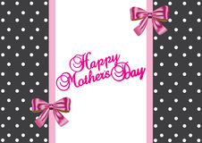 Happy mother's day gift card Stock Image