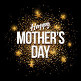 Happy Mother`s Day golden glitter background banner. Happy Mother`s Day banner with gold glitter. Vector illustration. Elements are layered separately in vector Stock Photography