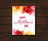 Happy Mother`s day greeting card. Royalty Free Stock Images