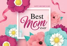 Happy Mother`s Day greeting design Stock Images