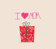 Happy Mother's Day! Greeting card.Celebration background with gift boxes Stock Photography
