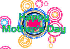 Happy Mother s Day Greeting. Card with Colorful Design vector illustration