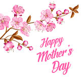 Happy Mother's Day. Greeting card with custom text Stock Photo