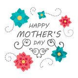 Happy Mother`s Day Greeting Card Design Stock Photo