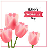 Happy Mother`s Day Greeting Card Design. Illustration of a Happy Mothers Day Greeting Card Design vector illustration