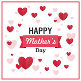 Happy Mother`s Day Greeting Card Design Royalty Free Stock Photography