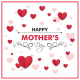 Happy Mother`s Day Greeting Card Design. Illustration of a Happy Mothers Day Greeting Card Design Royalty Free Stock Image