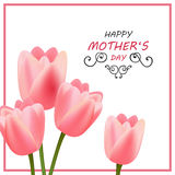 Happy Mother`s Day Greeting Card Design. Illustration of a Happy Mothers Day Greeting Card Design Royalty Free Stock Images