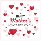 Happy Mother`s Day Greeting Card Design. Illustration of a Happy Mothers Day Greeting Card Design Royalty Free Stock Photography