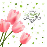 Happy Mother`s Day Greeting Card Design. Illustration of a Happy Mothers Day Greeting Card Design royalty free illustration