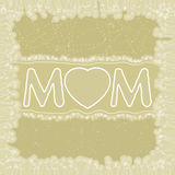 Happy Mother's Day greeting card. EPS 8 Royalty Free Stock Photography