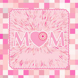 A Happy Mother's Day greeting card. EPS 8 Stock Images
