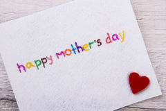 Happy Mother`s Day greeting card. Stock Photography