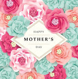Happy Mother`s Day. Mother`s day greeting card with flowers background