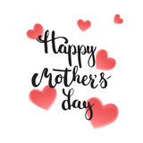 Happy Mother's day greeting card with hearts isolated on the white background. Vector illustration for Mothers Day Royalty Free Stock Photos