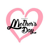 Happy Mother`s Day Greeting Card. Lettering calligraphy inscription Royalty Free Stock Images