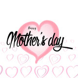 Happy Mother`s Day Greeting Card. Lettering calligraphy inscription Royalty Free Stock Photo