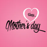 Happy Mother`s Day Greeting Card. Lettering calligraphy inscription Royalty Free Stock Image