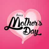 Happy Mother`s Day Greeting Card. Lettering calligraphy inscription Royalty Free Stock Photos