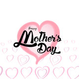 Happy Mother`s Day Greeting Card. Lettering calligraphy inscription Stock Photography