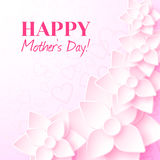 Happy Mother`s Day. Greeting card with pink flowers. Happy Mother`s Day. Vector greeting card with pink flowers Stock Image
