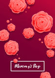 Happy Mother's Day Greeting Card. Rose Flowers. Royalty Free Stock Photography