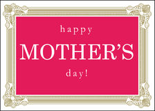 Happy Mother's Day Greeting Card Sign Stock Images