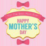 Happy Mother's Day Greeting Card Template Stock Photo