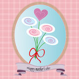 Happy mother's day greeting card vector Royalty Free Stock Photography