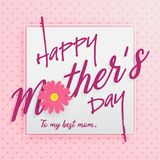 Happy Mother`s Day Greeting Card Stock Images