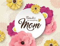 Happy Mother`s Day greeting design Stock Photography