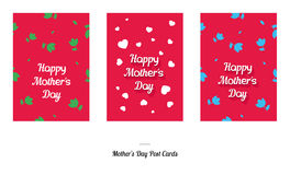 Happy Mother's Day Greeting Design Post Cards Stock Image