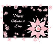 Happy Mothers Day Greeting. Floral greeting, text can be replaced Stock Image