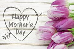 Happy Mother`s Day Greeting with flowers Royalty Free Stock Photo