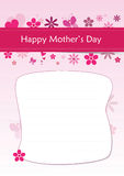 Happy Mother's Day - A4 Greeting Letter Royalty Free Stock Images