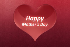 Happy Mother`s day greeting written on big red heat Stock Photo