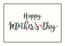 Happy Mother`s Day Hand Drawing Vector Lettering design. Royalty Free Stock Photography