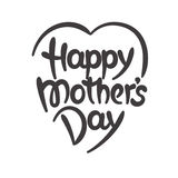 Happy mother's day hand-drawn lettering Stock Photo