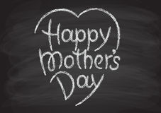 Happy mother's day hand-drawn lettering Royalty Free Stock Images