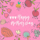 Happy mother's day hand drawn lettering congratulation card Royalty Free Stock Photography