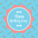 Happy mother's day hand drawn lettering congratulation card Royalty Free Stock Images