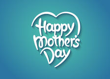 Happy mother's day hand-drawn lettering Royalty Free Stock Photography