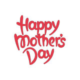 Happy mother's day hand-drawn lettering Stock Images