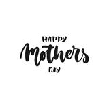Happy Mother`s Day - hand drawn lettering phrase isolated on the white background. Fun brush ink inscription for photo overlays, g Royalty Free Stock Image