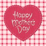 Happy mother's day hand-drawn lettering Royalty Free Stock Photos