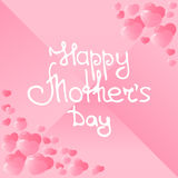 Happy Mother`s Day hand lettering vector illustration