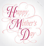 'happy mother's day' hand lettering (vector) Stock Image