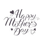 Happy Mother`s Day hand written lettring. Vector illustration in eps 8 format Stock Images