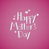 Happy Mother`s Day hand written lettring. Vector illustration in eps 8 format Royalty Free Stock Photos