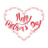 Happy Mother`s Day. Handmade calligraphy vector illustration Royalty Free Stock Photography